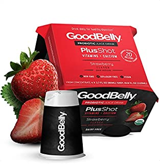 Goodbelly, Strawberry Plus Shots, 2.7 Ounce, 4 Pack