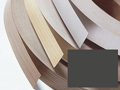 Kantenumleimer, Bügelkante, Melaminkante mit Schmelzkleber für Möbelbauplatten und Regalbretter - 5 Meter - Anthrazit Höhe 22 mm
