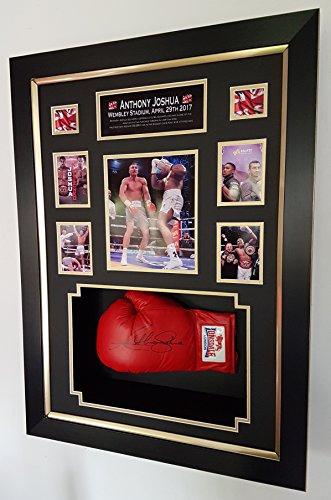 New Anthony Joshua unterzeichnet Boxhandschuh. Wembley, VS Klitschko Display. AFTAL Dealer Zertifikat