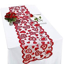 Image of Valentines Table Runner Red...: Bestviewsreviews