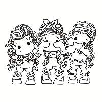 DIYのスクラップブッキング/フォトアルバムの女の子の透明なクリアシリコーンスタンプ/シール装飾的なクリアスタンプuj