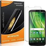SWIDO Schutzfolie für Motorola Moto G6 Play [2 Stück] Anti-Reflex MATT Entspiegelnd, Hoher Festigkeitgrad, Schutz vor Kratzer/Folie, Bildschirmschutz, Bildschirmschutzfolie, Panzerglas-Folie