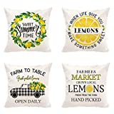 Hexagram Lemon Summer Pillow Covers...