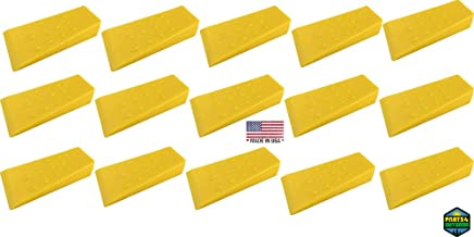 "Parts 4 Outdoor Set of 15 Tree Felling Falling Felling Wedges Yellow 5.5"" Plastic Logging Wedge"