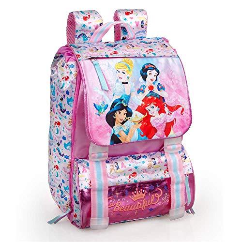 INACIO Mochila Extensible Princesas Disney Cenicienta Jasmine Blancanieves Ariel School Leisure Bag CM.41x31x20-10812