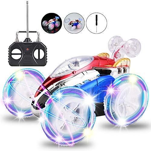 Faburo Auto Telecomandata Bambino, Macchina Telecomandata con 360 Rotazione RC Auto e luci a LED, Ideale Regalo Giocattolo per Bambini(Richiede 5 batterie AA)