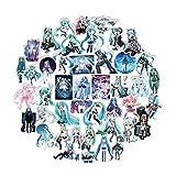 Saicowordist 100 Stcke Hatsune Miku Anime PVC Aufkleber Persnlichkeit Reise Trolley Aufkleber...