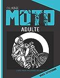 Coloriage moto adulte avec citations: livre demotos à colorier et citations sur fond noir