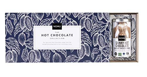 NOMU Hot Chocolate 4 Tin Variety Gift Set | Skinny, Unsweetened, Decadent & Drinking Cocoa