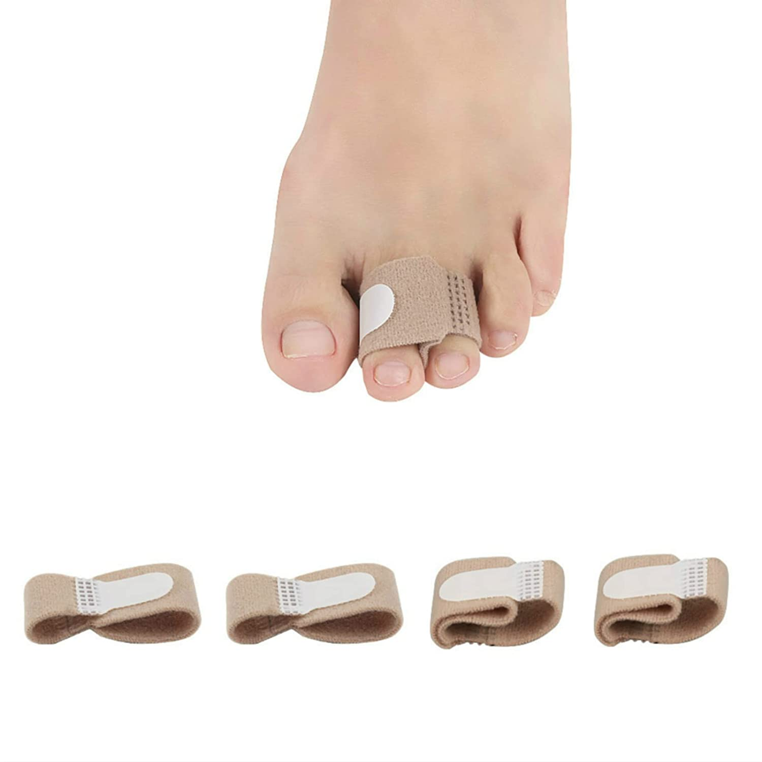 4 Pack Broken Toe Miami Mall Wraps Cushioned Separator Hammer Super Special SALE held Bandages