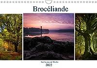 BROCELIANDE, sur les pas de Merlin (Calendrier mural 2022 DIN A4 horizontal): Brocéliande, sa magie, ses légendes, le roi Arthur, ses chevaliers et Merlin l'enchanteur (Calendrier mensuel, 14 Pages )