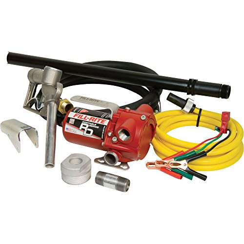 Fill-Rite RD812NP 8 GPM 12V Portable Fuel Transfer Pump with Manual Nozzle, Discharge Hose, Suction Pipe, and Power Cord