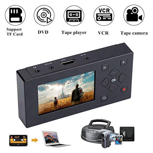 ASHATA Video Capture Box, Vidéo Convertisseur 3 Pouces écran TFT Enregistreur AV Audio Vidéo Convertisseur Support SD Card pour Lecteur de Cassettes/VHS/VCR/DVD/DVR / Hi8