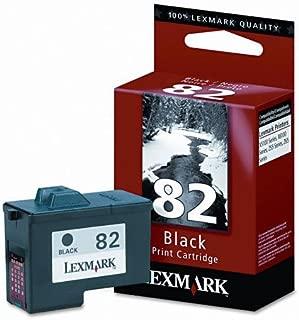 Compatible Lexmark 82 Ink Cartridge. Black, High Resolution. Fits printer models: Z55/Z65, X5150, X6150, X6170