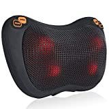 Back Massager with Heat, ESSEASON Shiatsu Neck Massager Deep Tissue, Massage Pillow for Shoulder, Lower Back, Calf, Full Body,Muscle Relieve in Home Car and Office