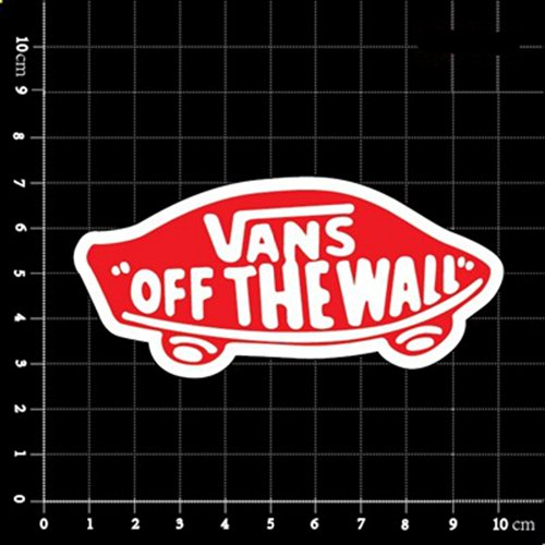 Vans Off The Wall Skateboard Red Brand Logo Classic Decal Sticker