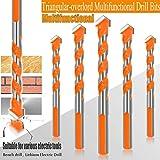 Detazhi Broca de 6/6/8 / 810mm Triangular-Overlord Handle multifuncionales Brocas helicoidales Taladro Set 5Pcs Accesorios del Taladro