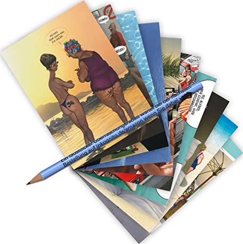 10-er Set Postarten A6 • MIX-0915 ''Postkarten-Set Urlaub 1'' von Inkognito • Künstler: INKOGNITO