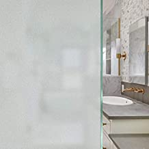 Frosted Window Film Privacy Window Film Non Adhesive Removable Opaque Window Sticker UV Blocking Heat Control Static Cling Vinly Glass Film for Home Shower Bathroom, Office - 23.6 x 78.7 inches