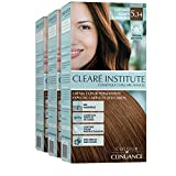 Colour Clinuance | Coloration Permanente Cheveux Délicats | Coloration Permanente Sans Ammoniaque | 5.34 Châtain Clair Lumineux | Pack de 3