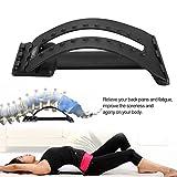 GOTOTOP Back Support Rückendehner Orthopädischer Gerät Wirbelsäulenstrecker für Rücken Dehnung gegen Verspannung und Rückenschmerz -