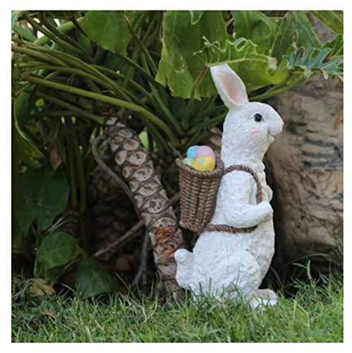 MISS KANG Esculturas de la Resina del jardín Decoraciones de Conejo, jardín al Aire Libre Esculturas de Animales, artesanías en el hogar, Regalos creativos (Color: D) Qingchunw (Color : C)