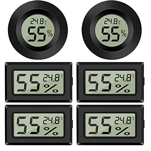 EEEKit 6 Pack Mini higrómetro Termómetro Medidor de Humedad Pantalla Digital LCD Medidor de Temperatura y Humedad Monitor para Interior al Aire Libre Hogar Babyroom Invernadero Reptil Incubadora