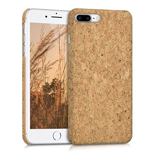 kwmobile Hülle kompatibel mit Apple iPhone 7 Plus / 8 Plus - Kork Handyhülle - Handy Case Cover Schutzhülle in Hellbraun