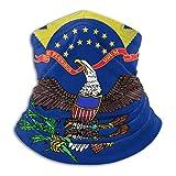 XCVD Bandanas Half Face Calentador de cuello de microfibra con bandera del estado de Dakota del Norte para exteriores, deportes