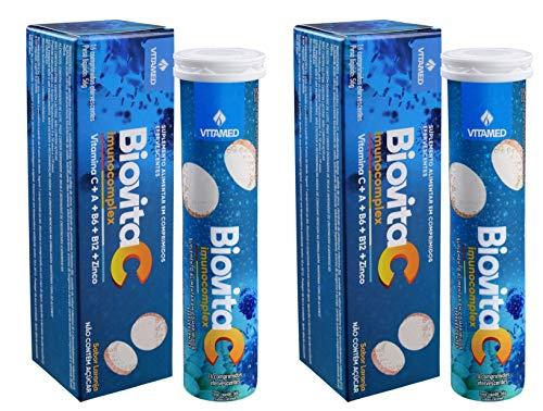2 Biovita C Imunocomplex: 1000 mg de Vitamina C + outras vitaminas p/imunidade