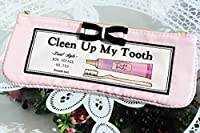 シルエット 歯ブラシポーチ ピンク 消臭・抗菌 ネーム付き ペンポーチ コスメ トラベル 旅行 携帯歯ブラシ 歯ブラシ