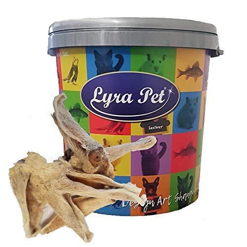 Lyra Pet® 100 STK. Lammohren mit Fell Kausnack Kauartikel Hundefutter Lammohr wie Rinderohr Leckerli in 30 L Tonne