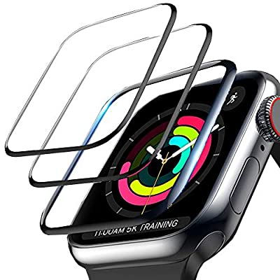 3-Pack Screen Protector for Apple Watch Series 3/2/1 38mm, 3D Curved Edge Anti-Scratch Anti-Bubble Ultra HD Flexible Film Protector with Black Edge for iWatch Series 3/2/1 (38MM)