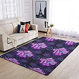 Ginald Alfombra de champiñones suave – alfombra de área de la casa alfombras blancas 50 x 80 cm