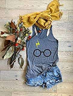 Harry Potter. True To Women's Fit. Hand Made. Made To Order. Heather Gray. Women's Eco Tri-Blend Tanks. Women Clothing. Super Soft Tank. Harry Potter Shirt.