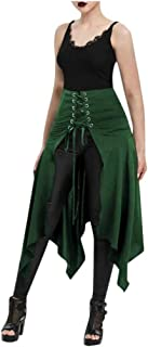 Steampunk Gothic Victorian High Low Skirt Bustle Skirt Lace Up Retro Punk Cincher Vintage Long Dress LIM&Shop
