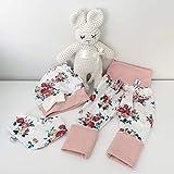ANGEBOT Set - Hose, Schleifenmütze, Halstuch - Cremeweiß Rosen (rose melange) Baby Mädchen