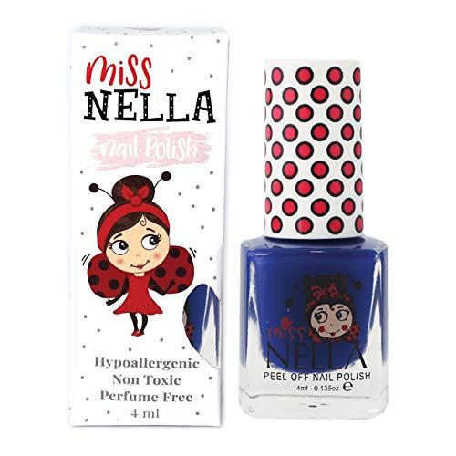 Miss Nella COOL KID- Spezieller Blau Nagellack für Kinder, Peel-Off-Formel, wasserbasiert und...