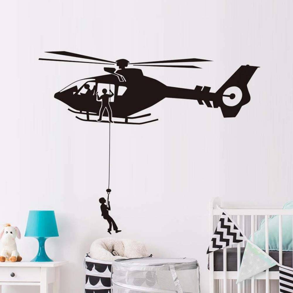 Airforce Helicopter Army Wall Sticker Home Decor Living Room