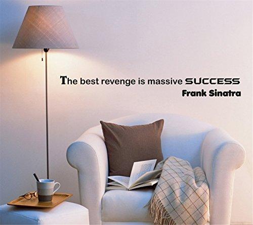 Negativ Autocollant Mural en Vinyle The Best Revenge est Massive Succès Amovible Papier Peint Art Stickers Décoration pour Home Chambre à Coucher Chambre d'enfant Salon de Cuisine
