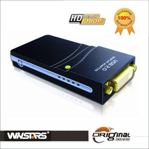 SCHEDA VIDEO ESTERNA USB 2.0 Display Adapter DVI-VGA-HDMI 1080P WINSTARS