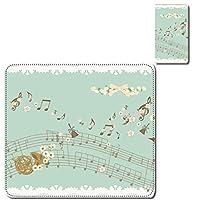 Xperia 5II SO-52A/SOG02 スマホカバー ケース レンズホール カード入れ付 楽譜 音楽 楽器 楽団 かわいい ブルー
