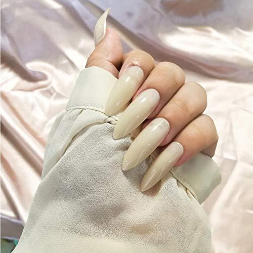 CSCH Faux ongles 24 pcs/ensemble nude longue conception faux ongles européenne fine à talons hauts artificielle nail art compétences beauté doigt décoration pressé sur les ongles