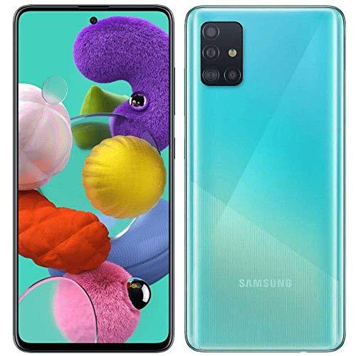 """Samsung Galaxy A51 (128GB, 4GB) 6.5"""", 48MP Quad Camera, Dual SIM GSM Unlocked A515F/DS- Global 4G LTE International Model - Prism Crush Blue (Renewed)"""