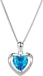 Collar grande de diamante para mujer, cadena de plata de ley S925, joyas personalizadas seguras y no alérgicas, caja de em...