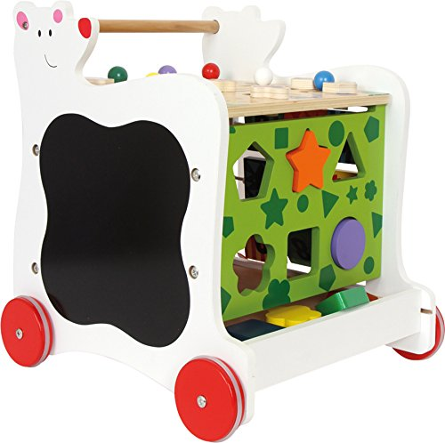 """Lauflernwagen""""Bär"""", Lauflernhilfe aus Holz, vielseitig bespielbares Motorikspielzeug/Lernspielzeug, Babyspielzeug ab 12 Monaten - 2"""