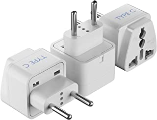 Ceptics AUS to Europe (most continental European countries) Universal Travel Plug Adapter (Type C) - Charge your Cell Phon...