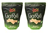 Sun Tropics Non-GMO Rolled Coconut Wafer Rolls 4oz, 2 Pack (Original)
