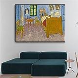Artistas Vincent Van Gogh Dormitorio en Arles Pintura sobre lienzo Carteles e impresión Imagen de pa...