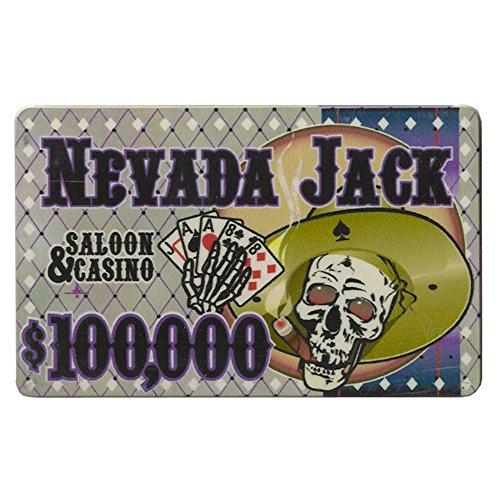 Nevada Jack $100,000 Poker Plaque 40-Gram Casino Grade Ceramic – Pack of 5